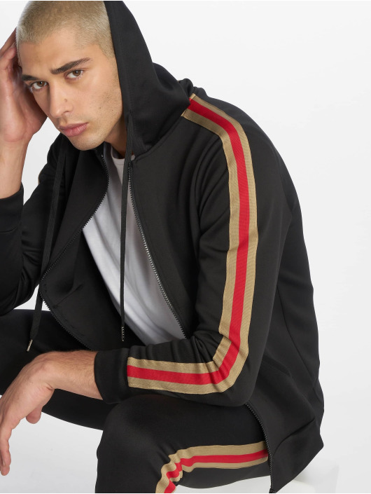 Uniplay Zip Hoodie Stripes schwarz