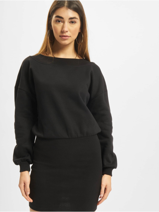 Urban Classics Šaty Off Shoulder èierna
