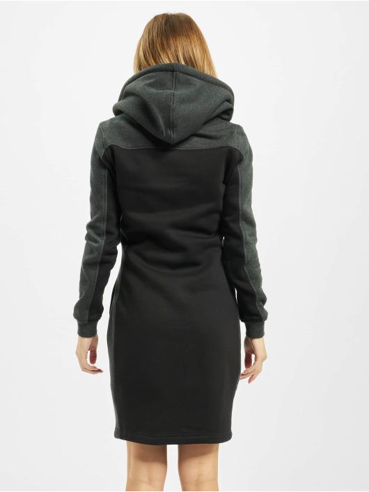 Urban Classics Šaty Ladies 2-Tone Hooded èierna