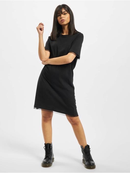 Urban Classics Šaty Ladies Boxy Lace Hem èierna