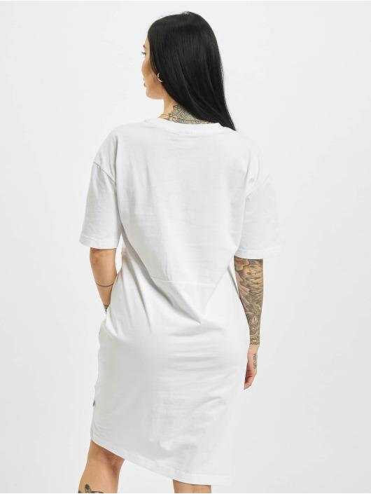 Urban Classics Šaty Organic Oversized Slit bílý