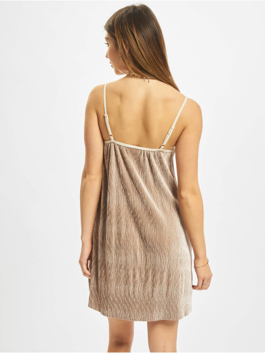 Urban Classics Šaty Velvet béžová