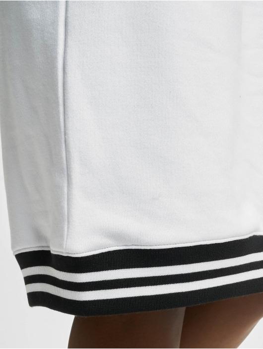 Urban Classics Šaty Contrast College Hooded biela