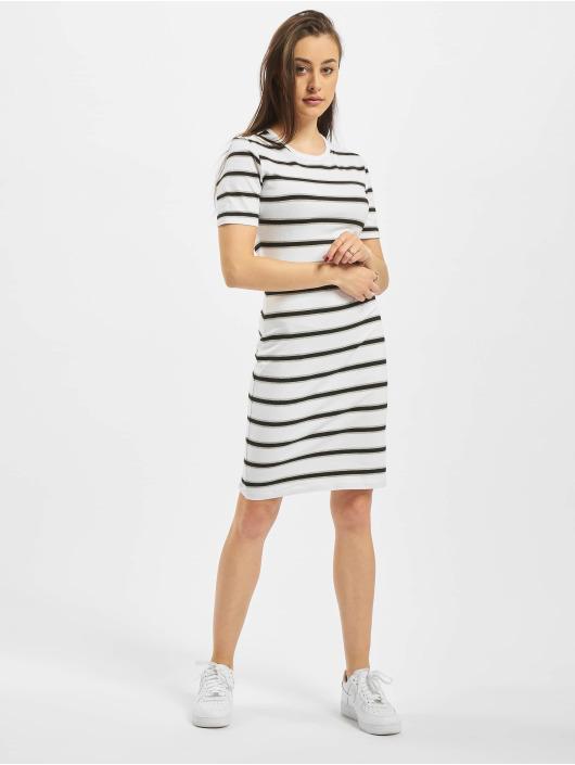Urban Classics Šaty Stretch Stripe biela
