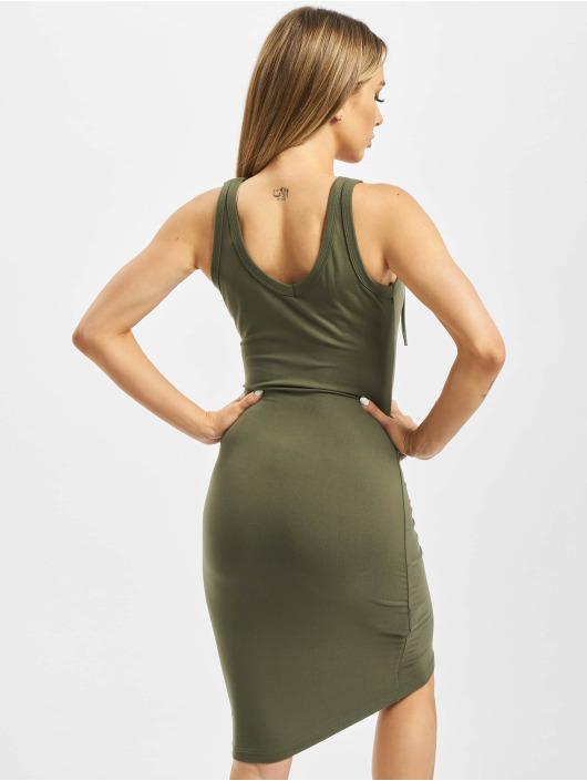 Urban Classics Šaty Lace Up olivová