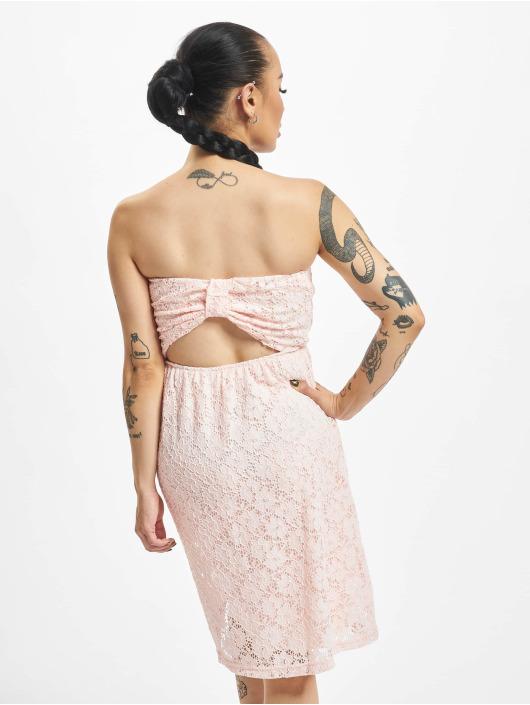 Urban Classics Šaty Laces ružová