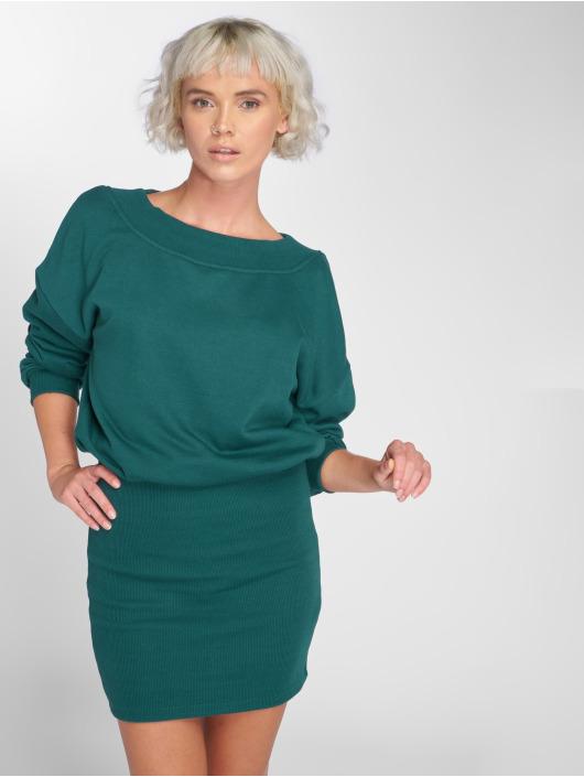 Urban Classics Šaty Off Shoulder zelená