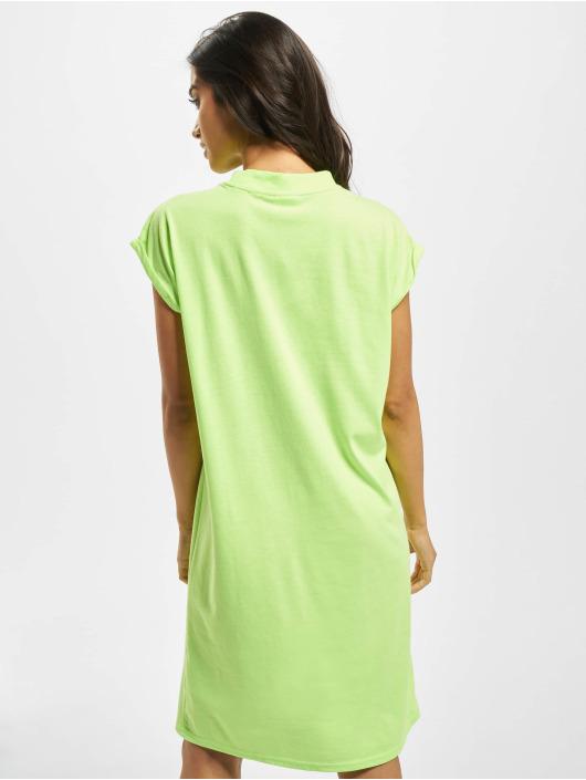 Urban Classics Šaty Turtle Extended Shoulder zelená