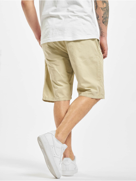 Urban Classics Šortky Straight Leg Chino With Belt béžová