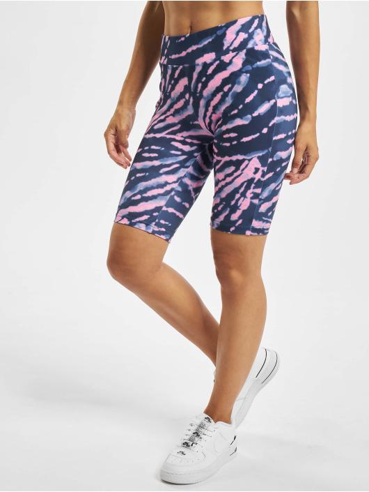 Urban Classics Šortky Ladies Tie Dye Cycling fialová