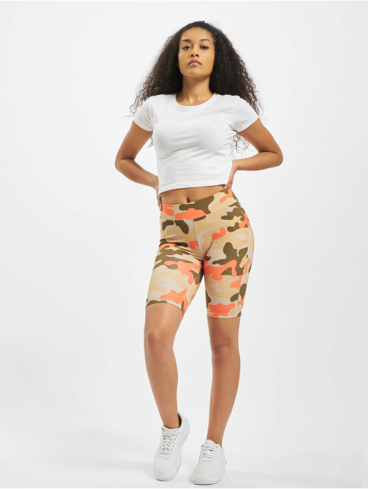 Urban Classics Šortky Ladies High Waist Camo Tech Cycle maskáèová