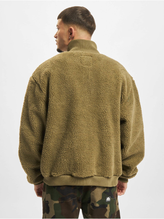 Urban Classics Демисезонная куртка Boxy Sherpa оливковый