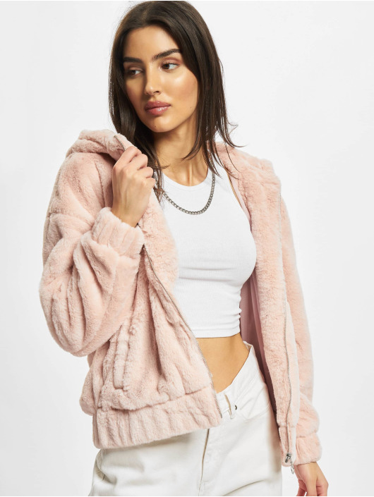 Urban Classics Демисезонная куртка Ladies Teddy розовый