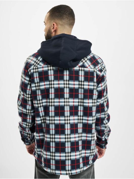 Urban Classics Демисезонная куртка Hooded Polar Fleece Overshirt синий