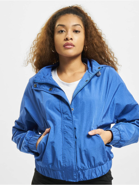 Urban Classics Демисезонная куртка Oversized Shiny Crinkle Nylon синий