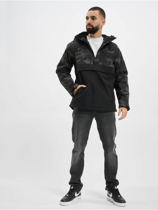 Urban Classics Демисезонная куртка Mix Pull Over черный