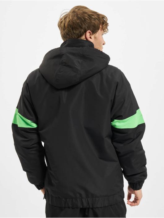Urban Classics Демисезонная куртка 3-Tone Neon Mix Pull Over черный
