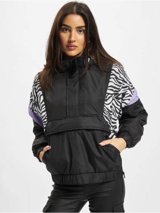 Urban Classics Демисезонная куртка Ladies Aop Mixed Pull Over черный