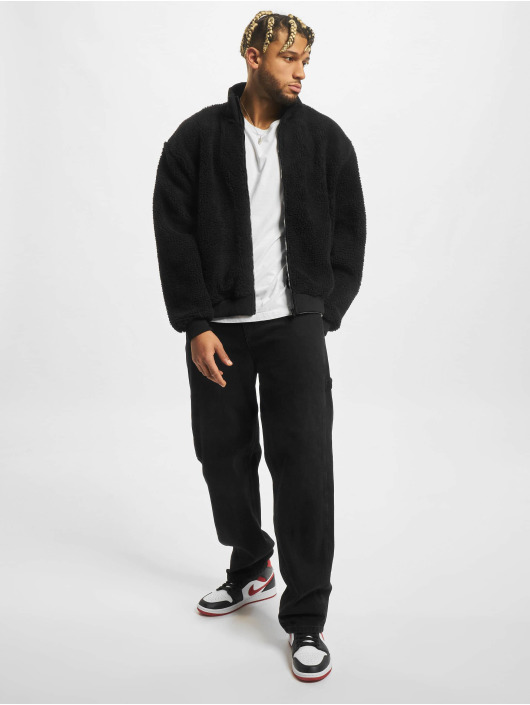 Urban Classics Демисезонная куртка Boxy Sherpa черный