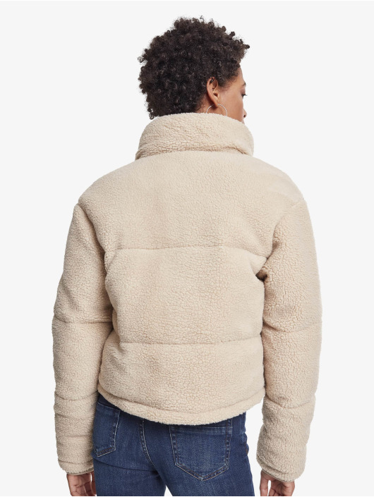 Urban Classics Зимняя куртка Ladies Boxy Sherpa бежевый
