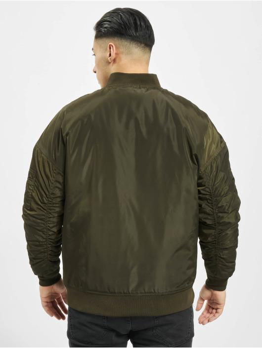 Urban Classics Куртка-бомбардир Oversized оливковый