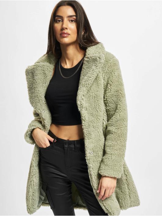 Urban Classics Пальто Ladies Oversized Sherpa оливковый