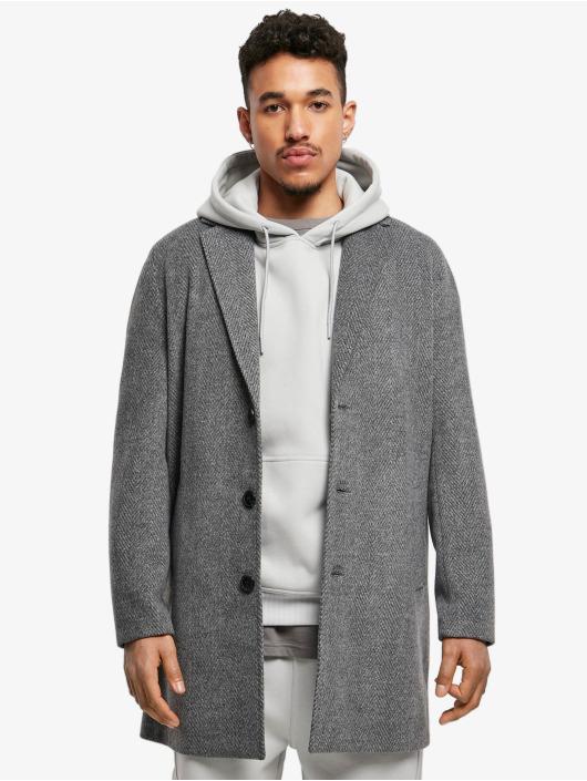 Urban Classics Пальто Classic Herringbone серый