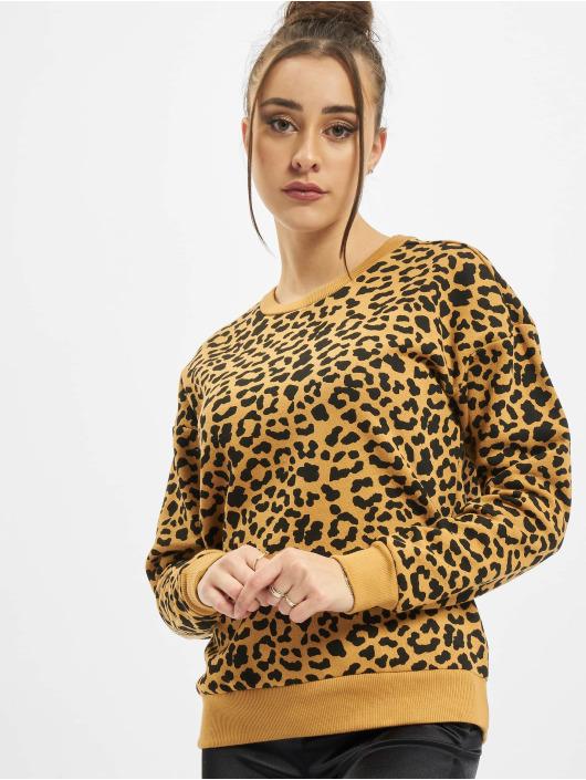 Urban Classics Пуловер Ladies AOP Leo бежевый