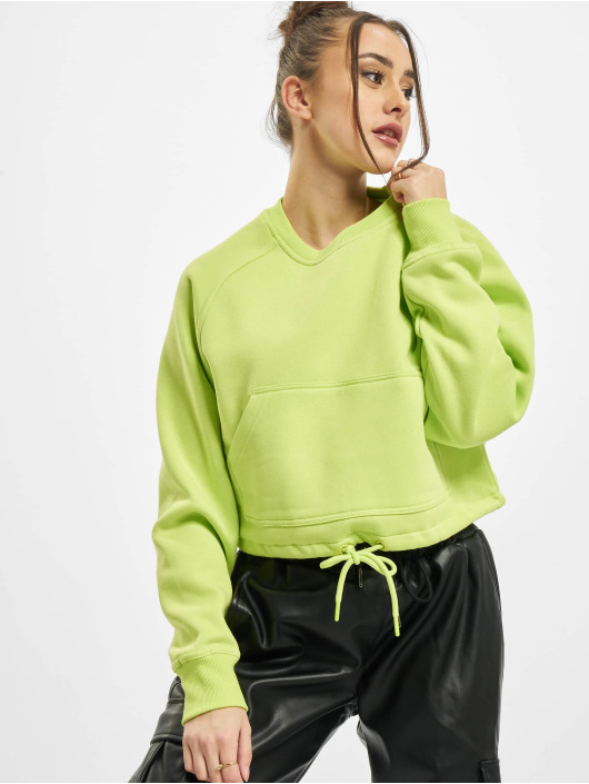 Urban Classics Пуловер Ladies Oversized Short Raglan Crew желтый