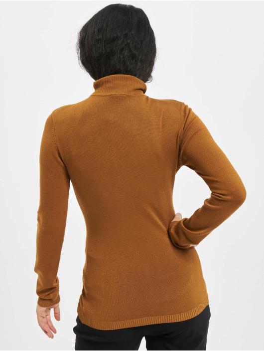 Urban Classics Пуловер Ladies Basic Turtleneck коричневый