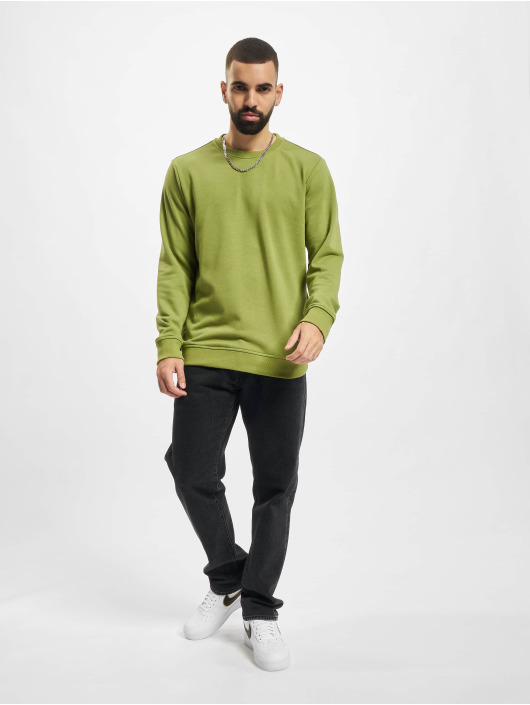 Urban Classics Пуловер Basic Terry Crew оливковый