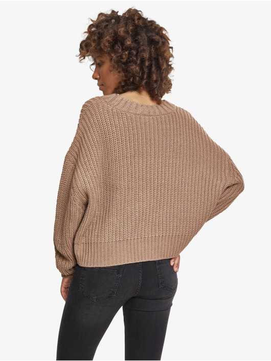 Urban Classics Пуловер Ladies Wide Oversize серый
