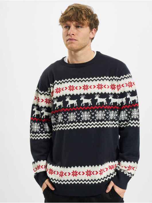 Urban Classics Пуловер Norwegian Christmas синий