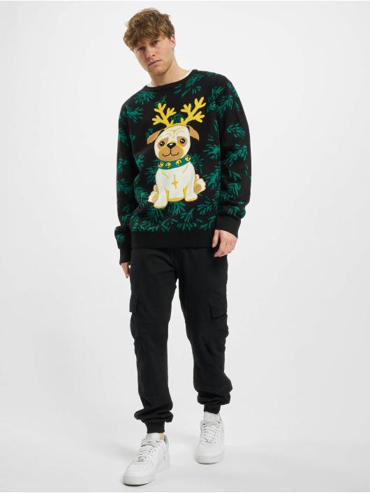 Urban Classics Пуловер Pug Christmas черный
