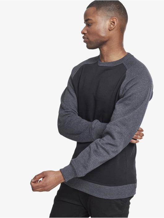 Urban Classics Пуловер 2-Tone Raglan Crewneck черный