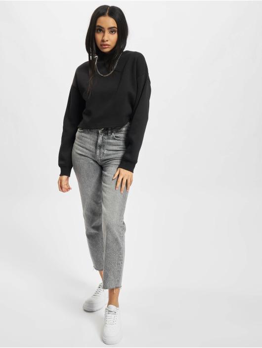 Urban Classics Пуловер Ladies Cropped Oversized High Neck Crew черный