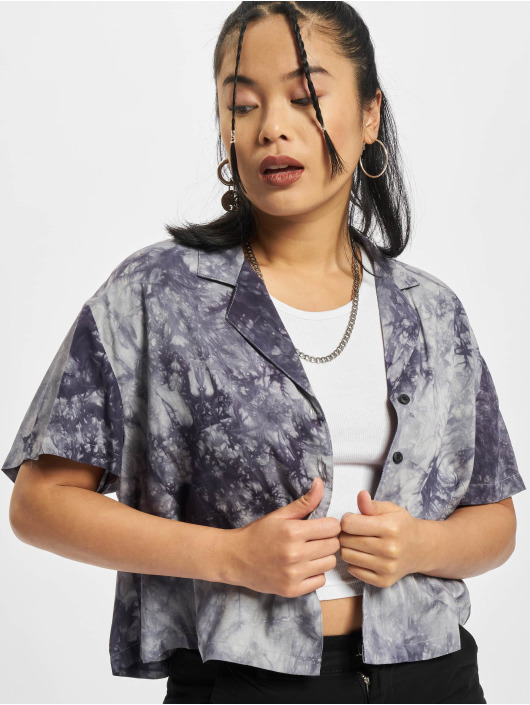 Urban Classics Рубашка Viscose Tie Dye Resort серый