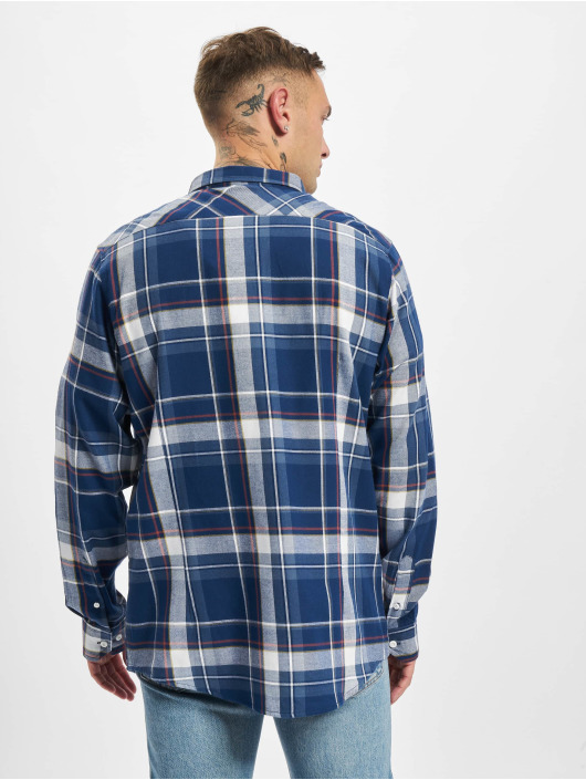 Urban Classics Рубашка Check синий