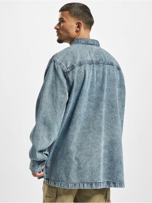 Urban Classics Рубашка Oversized Denim синий