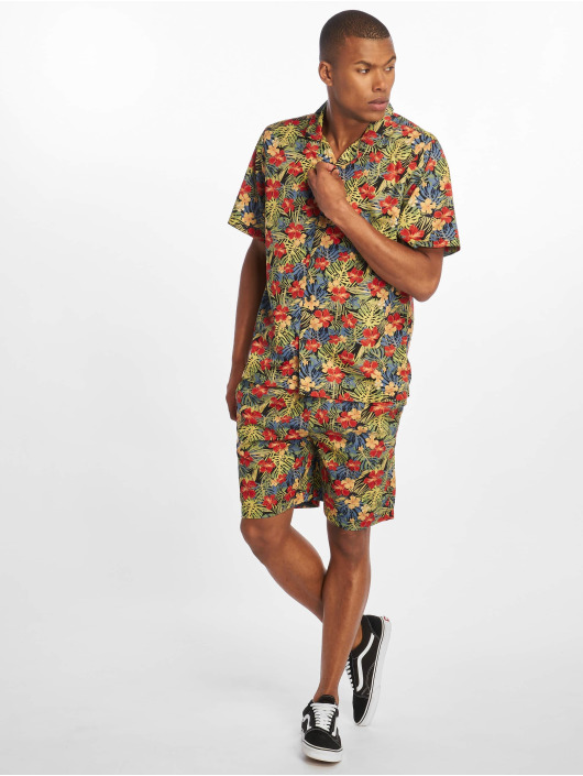 Urban Classics Рубашка Pattern Resort цветной
