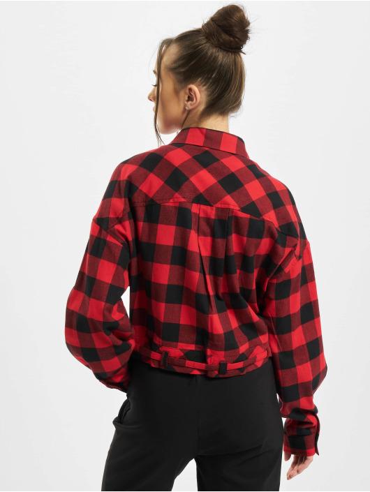 Urban Classics Рубашка Ladies Short Oversized Check черный