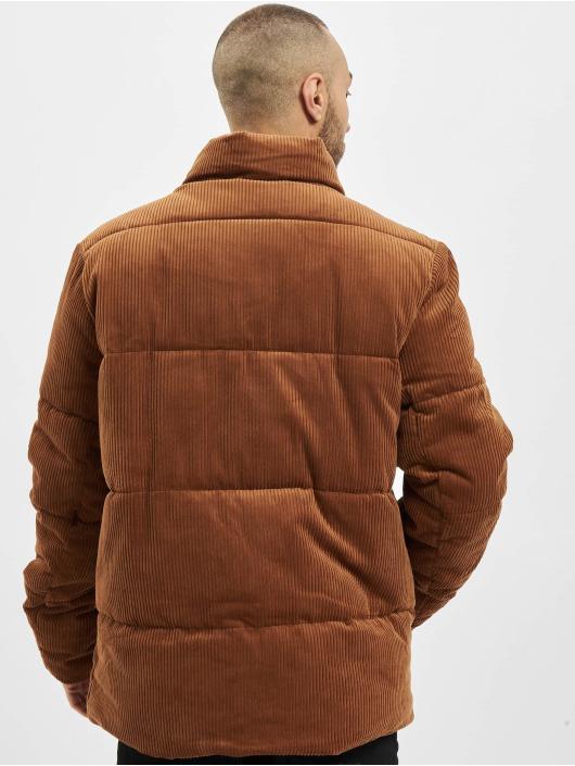 Urban Classics Стеганая куртка Boxy Corduroy коричневый