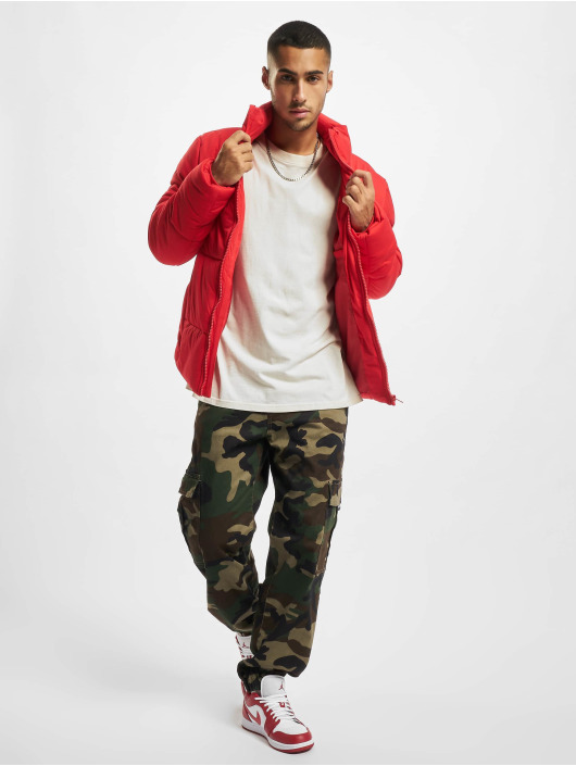 Urban Classics Стеганая куртка Boxy красный