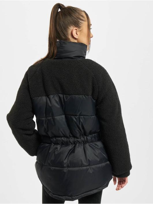 Urban Classics Стеганая куртка Ladies Sherpa Mix черный