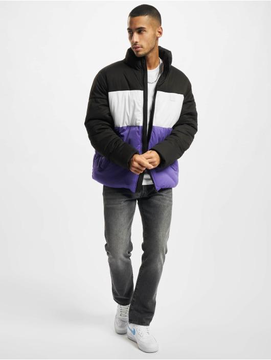 Urban Classics Стеганая куртка 3-Tone Boxy черный