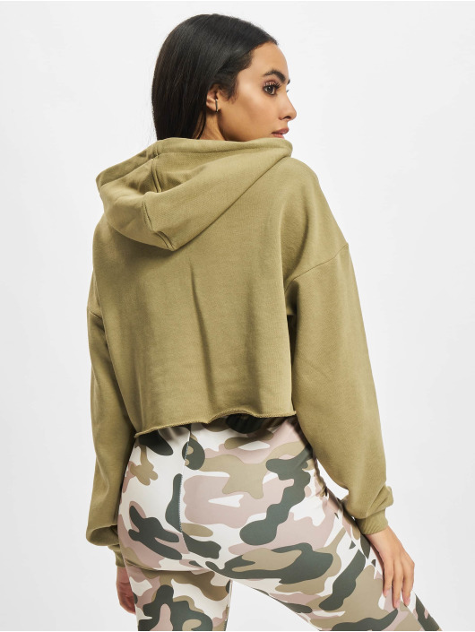 Urban Classics Толстовка Ladies Oversized Cropped хаки