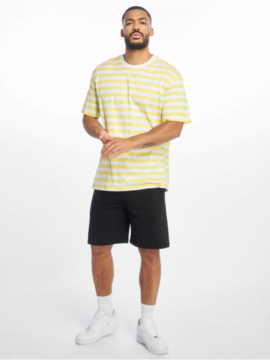 Urban Classics Футболка Oversized Yarn Dyed Bold Stripe желтый