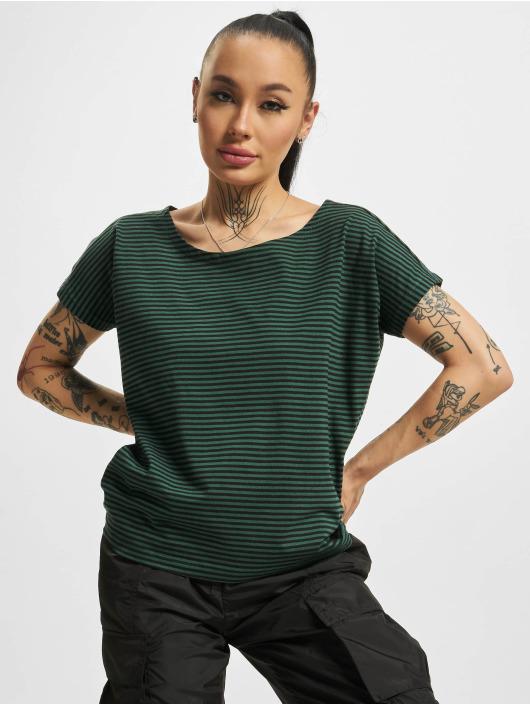 Urban Classics Футболка Yarn Dyed Baby Stripe зеленый