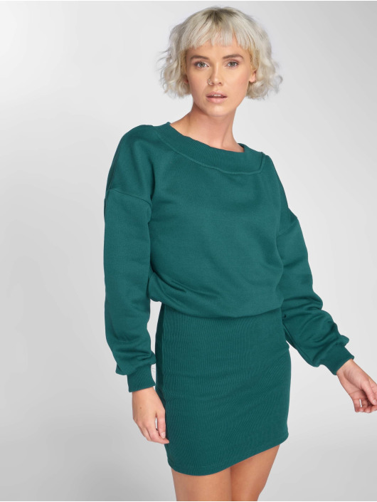 Urban Classics Abito Off Shoulder verde