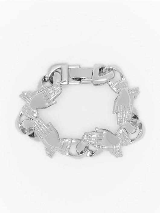 Urban Classics armband Pray Hands zilver